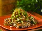Reisbratlinge mit Rosenkohl-Zwiebel-Gemüse Rezept