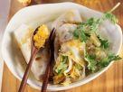 Reispapier-Gemüse-Wraps mit Ananaschutney Rezept