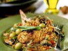 Reispfanne mit Hähnchen Rezept