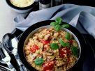 Reispfanne mit Tomaten und Champignons Rezept