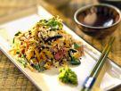 Reissalat mit asiatischem Gemüse, schwarzem Sesam und Wasabi Rezept