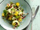 Reissalat mit Avocado und gelben Kirschtomaten Rezept