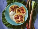 Rhabarber-Pfannkuchen mit Vanillesauce Rezept