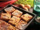 Rhabarberkuchen mit Quarkguss Rezept