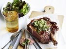 Rib Eye Steak mit Anchovie-Kapern-Butter Rezept