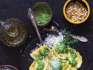 Ricotta-Ravioli und grünem Pesto Rezept