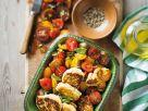 Ricottapflanzerl mit Tomatensalat Rezept