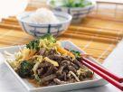 Rinderfiletstreifen mit Gemüse aus dem Wok Rezept