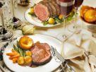Roastbeef mit Yorkshire-Pudding und gemischtem Gemüse Rezept