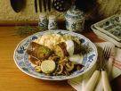 Roulade mit Pilzen und Nudeln Rezept