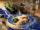 Rouladen mit Schinken-Knobauchfüllung und Spinat Rezept