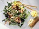 Rucolasalat mit Gemüse und Garnelen Rezept
