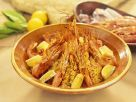 Safranreis mit Garnelen Rezept