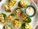 Salat-Häppchen mit Shrimps Rezept