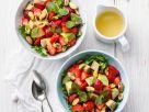 Salat mit Avocado und Erdbeeren Rezept