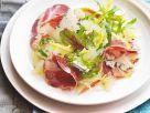Salat mit Birne, Blauschimmelkäse und Zitronengelee Rezept