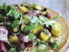 Salat mit Kürbis, feinen Rindfleischstreifen und Brunnenkresse Rezept