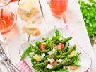 Salat mit Spargel und Rhabarber Rezept