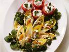 Salatplatte mit gefüllten Tomaten Rezept
