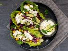 Salatschiffchen mit Kichererbsen und Zaziki Rezept