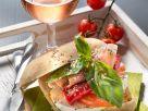 Sandwich mit Schinken und Mozzarella Rezept