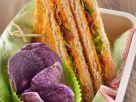 Sandwiches mit Käse, Speck und Rucola Rezept