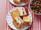 Sandwichstückchen mit Tomate-Mozzarella und Schinken Rezept