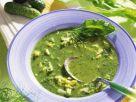 Sauerampferkaltschale mit sauren Gurken und Ei Rezept