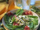 Sauerampfersalat mit dicken Bohnen und Bacon Rezept