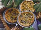 Scharfe Mini-Quiches mit Curryhähnchen und Champignons Rezept