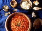 Scharfe Tomatensuppe mit Garnelen Rezept