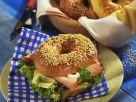 Schinken-Käse-Bagel Rezept