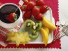 Schokofondue mit Obst Rezept