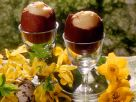 Schokoladeneier mit Puddingfüllung Rezept