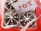 Schokoladenpralinen mit Karte zum Verschenken (weihnachtlich) Rezept