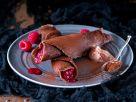 Schokopfannkuchen mit Himbeeren Rezept
