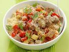 Schwein mit gemischtem Gemüse und Couscous Rezept