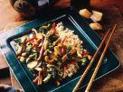 Schweinefleischstreifen mit Gemüse aus dem Wok Rezept