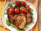Schweinekarree vom Grill mit Cocktailtomaten Rezept