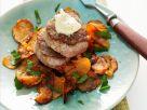 Schweinemedaillons mit gebackenen Süßkartoffeln Rezept