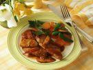 Schweineschnitzel mit Apfelsauce und Gemüse Rezept