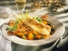 Seebarsch mit Nudeln in Orangensauce Rezept