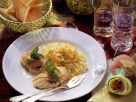 Seeteufel in Lachshülle mit Pasta Rezept