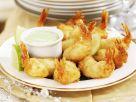 Shrimps in Pankopanande mit Wasabi-Creme Rezept