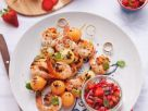Shrimps-Spieße mit Melone Rezept