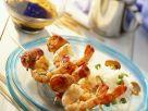 Shrimps-Spieße mit Reis Rezept