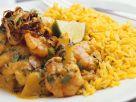 Shrimpscurry mit Reis Rezept