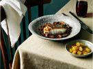 Skrei mit Rotweinsauce und Champignons Rezept