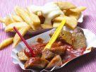 Soja-Currywurst mit Pommes Rezept