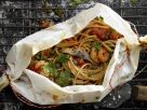 Spaghetti-Garnelen-Päckchen Rezept